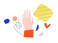 Illustration global giving platform