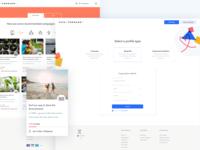 Web pages online platform