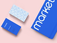 Notebook and businesscards