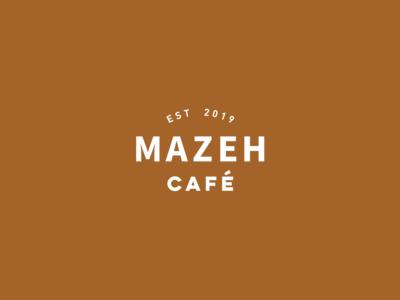 Logo Design Mazeh Café design visual  identity branding design telaviv minimalism natural cups cafe coffee branding