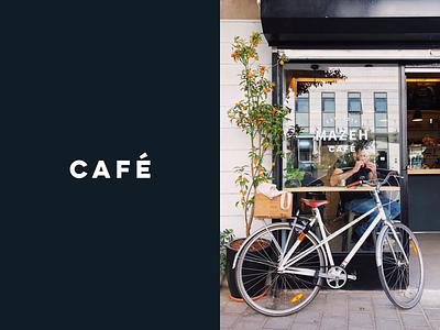 Logo Design Mazeh Café tel aviv design visual  identity branding design telaviv minimalism natural cups cafe coffee branding
