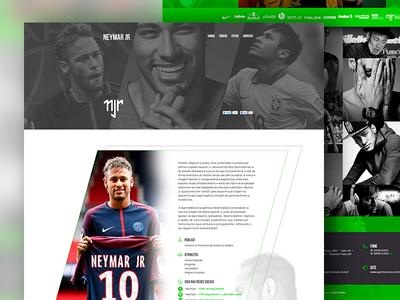 Neymar Jr OnePage Site
