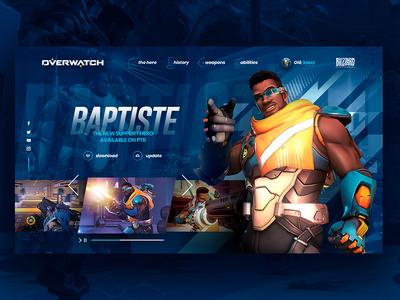 Overwatch New Hero Website Concept