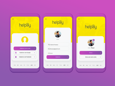 Helpay App Sign Up/Login Screen