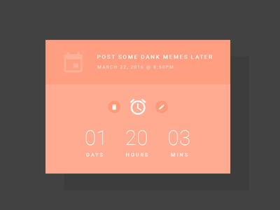 DailyUI 014 - Countdown Timer dailyui 014 ux ui dailyui countdown timer