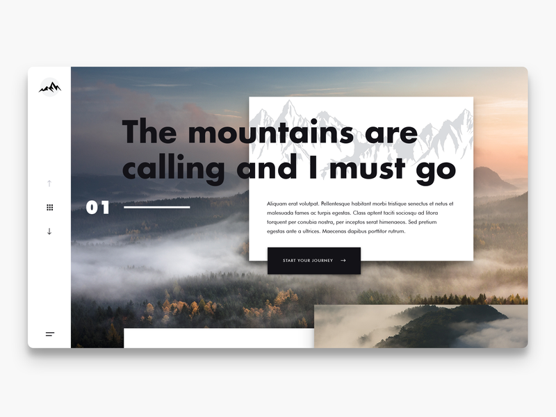 The mountains are calling designinspiration concept ux ui website webdesign