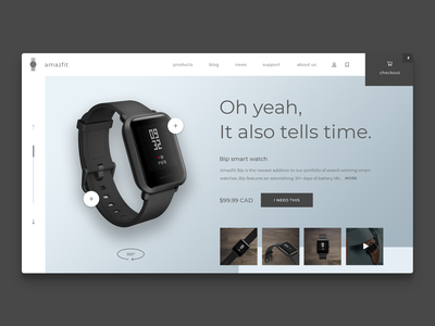 Redesign concept for a smart watch company