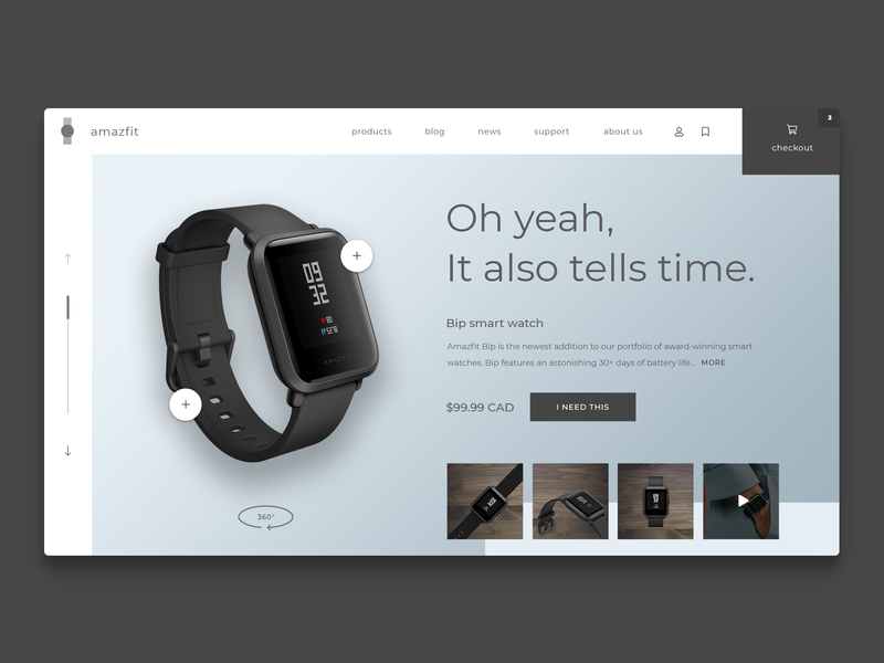 Redesign concept for a smart watch company dailyui uiux userinterface designinspiration appdesign uxdesign uidesign productdesign website ux ui webdesign thebeeest welovedesign landingpage concept redesign