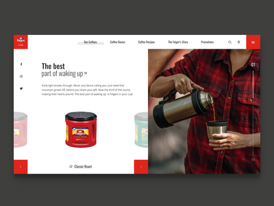Folger's coffee website concept