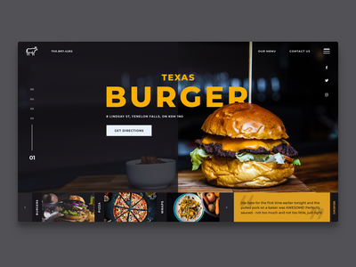 Redesign concept for Texas Burger in Fenelon Falls