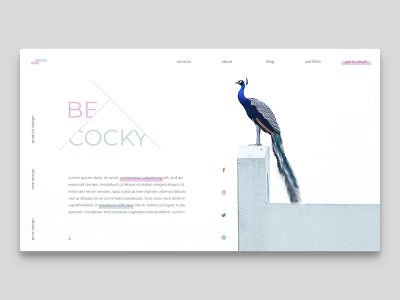 Proposal concept for Peacock Design webdeveloper webdesigner web design uxdesign designinspiration landingpage userinterface uidesign dailyinspiration uiux webdesign website dailyui concept ux ui