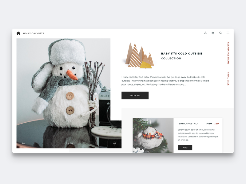 Baby It's Cold Outside Collection productdesign webdeveloper webdesigner web design uxdesign designinspiration landingpage userinterface uidesign dailyinspiration uiux webdesign website dailyui ecommence concept ux ui