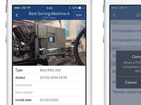iOS technician maintenance app