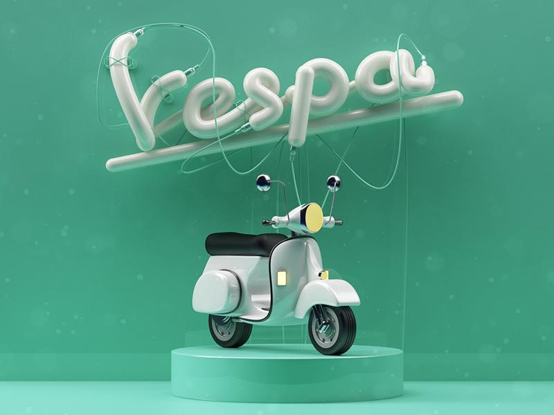 Vespa motorcycle vesta