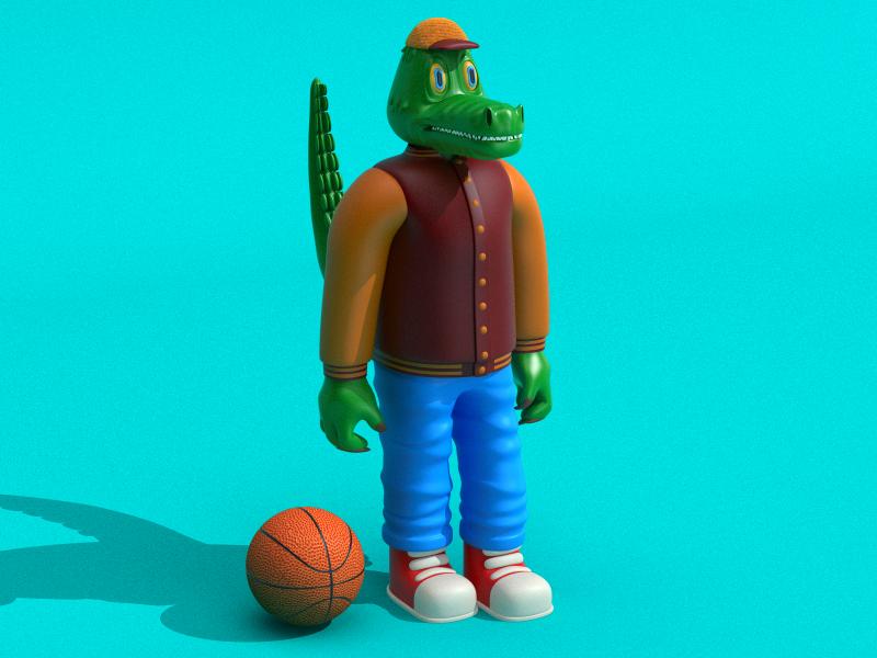 Cocrodilo graphicdesign render 3d crocodile characterdesign illustration