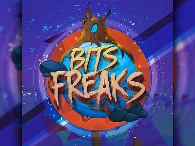 Bits Freaks - Logo intro VideoGame vector photoshop ilustrator videogame game logo ilustration