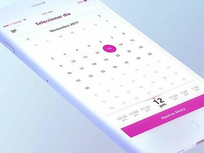Ui/Ux - Reserva de citas ui design app ux