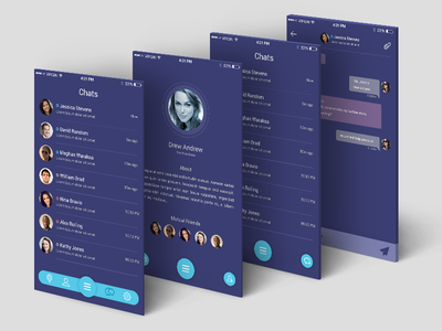 UI for Chat Application mobile app design ux design mobile product design chat app navigation chat application template messages user profile mobile app mobile menu profile mobile ui