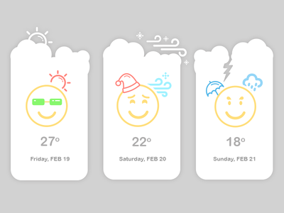Weather Widgets product design web design mobile design illustraion weather widget clouds weather reports icons climate widgets weather