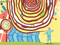 Hundertwasser Editorial Illustration