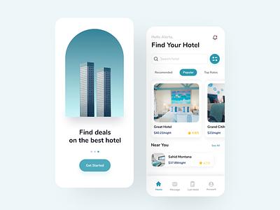 Hotel Booking App hotelapp design mobile app mobile design uidesign mobile app design mobile ui