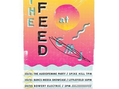 CMJ Poster poster design illustration