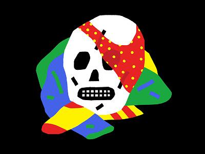 Dirty Laundry pattern laundry color illustration skull