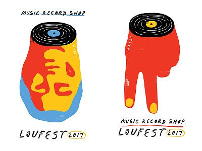 MRS x LouFest typography design poster illustration