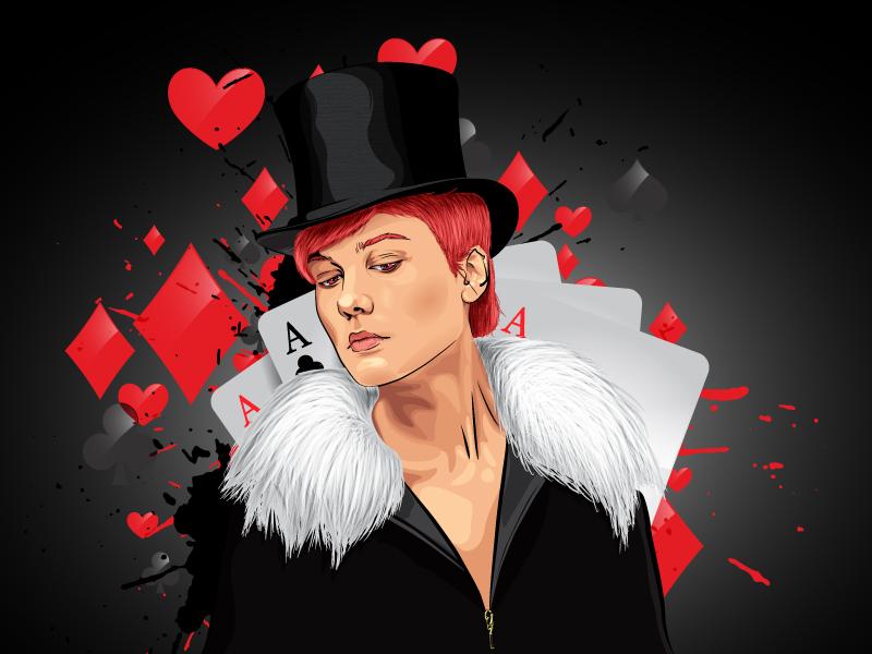 Sad Magician illustrator artist vector illustration illustration casino magician magic vector