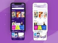 Manga Reader App Home Screen