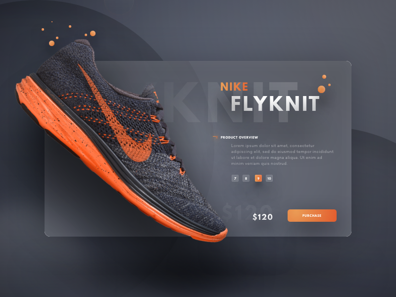 Flyknit Lunar 3 colour sports card web lunar orange shoe nike ui