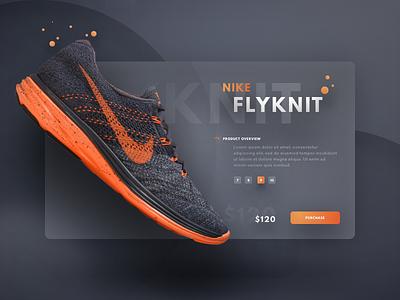 Flyknit Lunar 3 colour sports card web lunar orange shoe nike ui