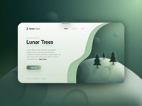 Lunar Trees Card