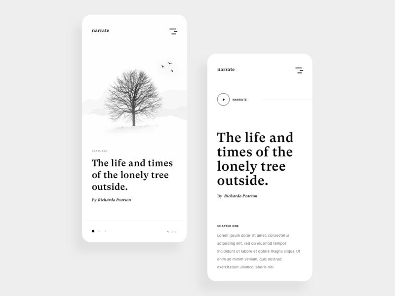 The Lonely Tree editorial clean birds swiss branding design typogaphy blog article reading modern minimalist magazine layout branding book illustration minimal simple card ui