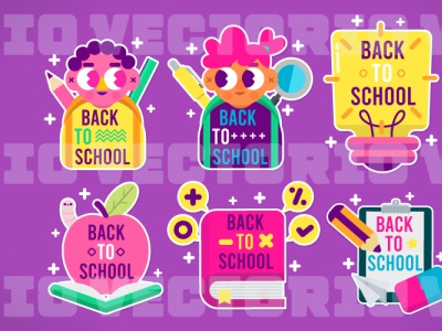 Back To School Label school vector school illustration sticker label