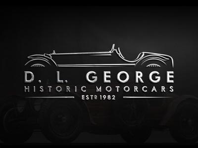Logo design for D. L. George Historic Motorcars