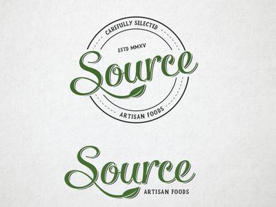 Logo design for Source Artisan Foods