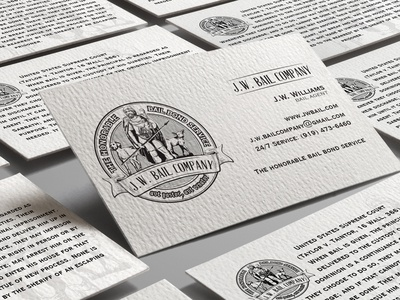 Business card for J.W. Bail Company