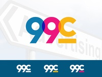 Logo design for 99c (advertising agency)