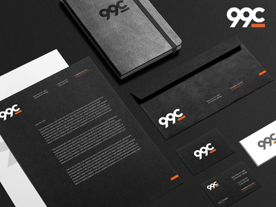 Stationery design for 99c (advertising agency)