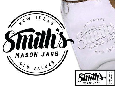 Logo design for Smiths Mason Jars