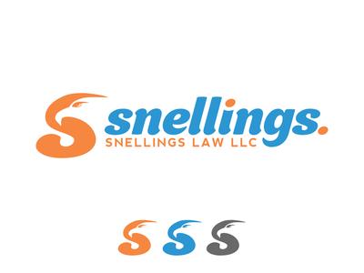 Snellings - Trendy Logo Design for Law Firm V3