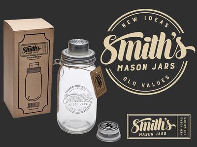 Logo branding for Smiths Mason Jars