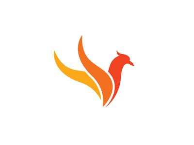Phoenix Bird Abstract Symbol