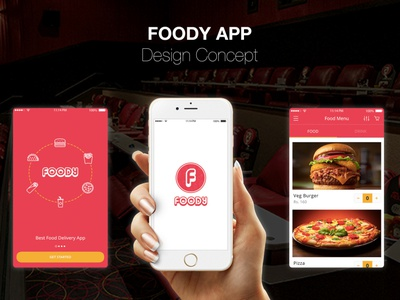Food Delivery Mobile App design logo typography design systems visual design illustration information architecture user experience (ux) user interface designer restaurant food app restaurant app food application design adobe xd ui ux design food delivery app food delivery design concept art direction ios mobile app