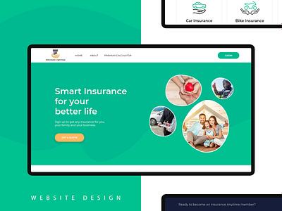 Insurance Landing Page Design website design dashboard design wireframe userflow typography user interface designer design systems visual design user experience (ux) information architecture