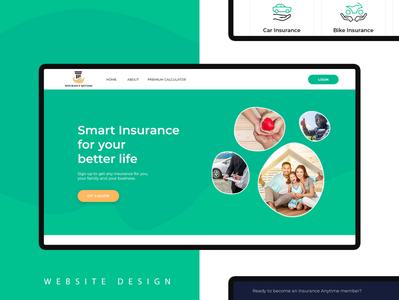 Insurance Landing Page Design