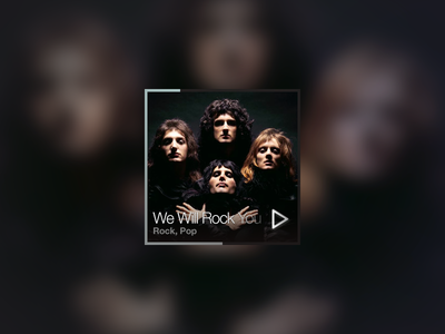 Minimal Music Player minimal dark queen ui gui play square track simple music music player player