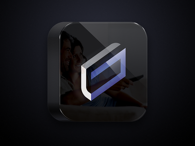 GrabTV App Icon app icon black purple tv interactive tv rounded apple android