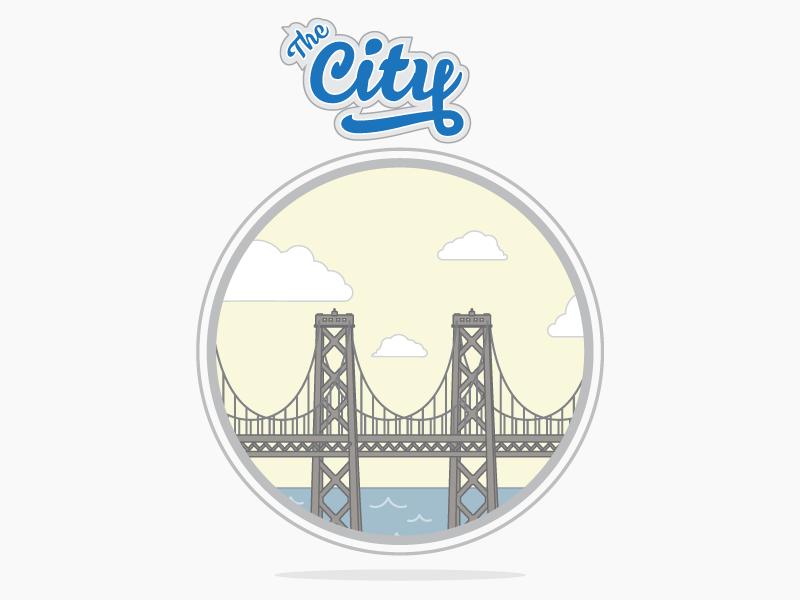 The City vector flat logo basketball california oakland san francisco nba warriors golden state